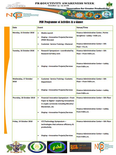 PAW Programme 2018